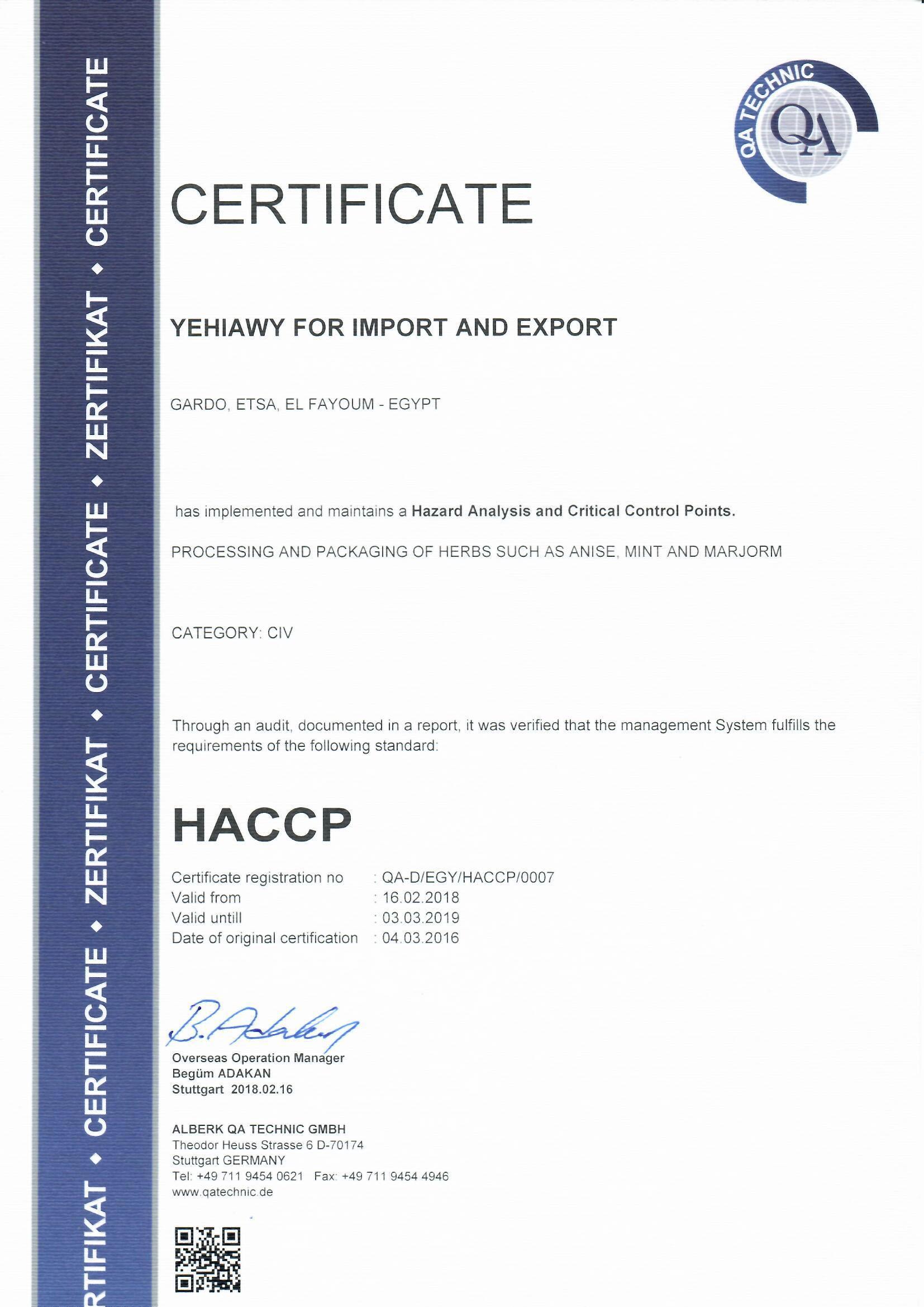 HACCP 2018